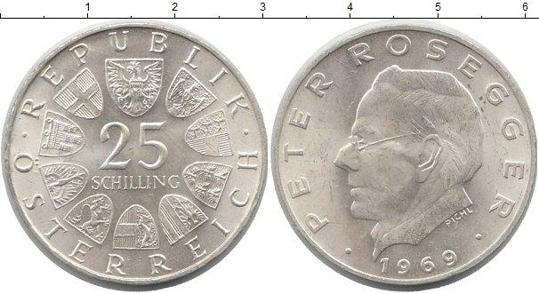 Картинка Монеты Австрия 25 шиллингов Серебро 1969