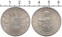 Изображение Монеты Австрия 25 шиллингов 1963 Серебро UNC-