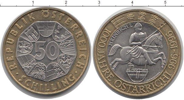 Картинка Монеты Австрия 50 шиллингов Биметалл 1996