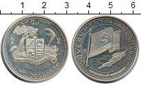 Изображение Монеты Ангилия 2 доллара 1969 Серебро Proof- национальный флаг и