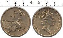 Изображение Монеты Австралия 5 долларов 1992 Латунь UNC- Австралия в космичес