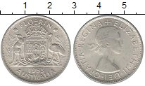 Изображение Монеты Австралия 1 флорин 1953 Серебро UNC-