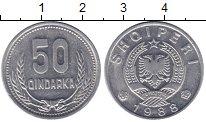 Изображение Монеты Албания 50 киндарка 1988 Алюминий UNC-