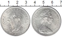 Изображение Монеты Багамские острова 1 доллар 1966 Серебро UNC-