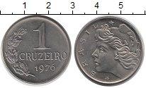 Изображение Монеты Бразилия 1 крузейро 1976 Медно-никель UNC-