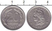 Изображение Монеты Аргентина 20 сентаво 1957 Медно-никель XF