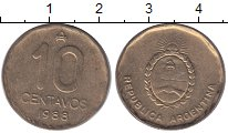 Изображение Монеты Аргентина 10 сентаво 1988 Латунь XF