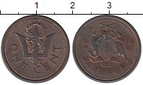 Изображение Монеты Барбадос 1 цент 1999 Медь VF