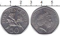 Изображение Монеты Великобритания Гернси 50 пенсов 2003 Медно-никель UNC-