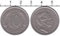 Изображение Монеты Дания 10 крон 1979 Медно-никель XF Маргрет II