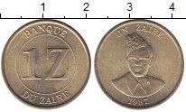 Изображение Монеты Заир 1 заир 1987 Латунь UNC-