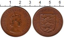 Изображение Монеты Остров Джерси 1/12 шиллинга 1964 Бронза XF