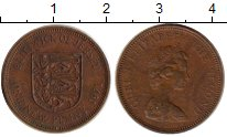 Изображение Монеты Остров Джерси 1 пенни 1971 Бронза XF