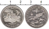 Изображение Монеты Ангилия 1 доллар 1967 Серебро Proof-