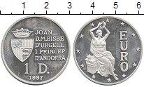Изображение Монеты Андорра 1 динер 1997 Серебро Proof-