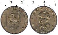Изображение Монеты Доминиканская республика 1 песо 1993 Латунь XF