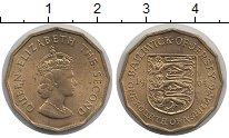Изображение Монеты Остров Джерси 1/4 шиллинга 1964 Латунь UNC-