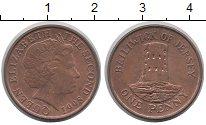 Изображение Монеты Остров Джерси 1 пенни 1998 Бронза UNC-
