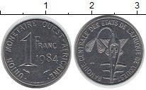 Изображение Монеты Центральная Африка 1 франк 1984 Алюминий XF