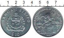Изображение Монеты Самоа 10 долларов 1980 Серебро UNC Вильгельм  Солф - гу
