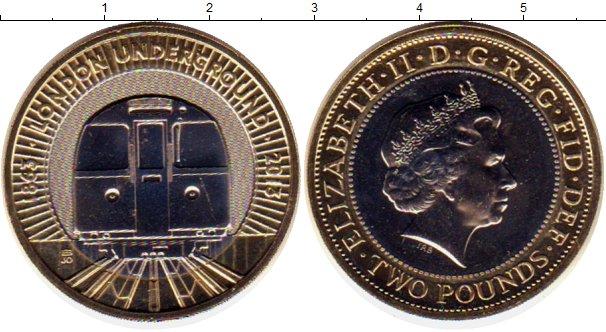 Монета 2 фунти метро тевтонский язык