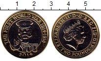 Изображение Монеты Великобритания 2 фунта 2014 Биметалл UNC-