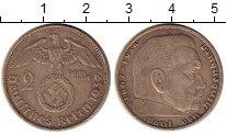 Изображение Монеты Третий Рейх 2 марки 1937 Серебро XF А   Пауль  фон  Гинд