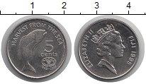 Изображение Монеты Фиджи 5 центов 1995 Медно-никель UNC-