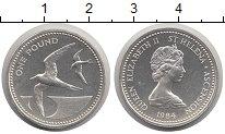 Изображение Монеты Остров Святой Елены 1 фунт 1984 Серебро Proof- Елизавета II.  Птицы