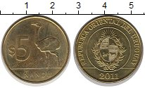 Изображение Монеты Уругвай 5 песо 2011 Латунь UNC-