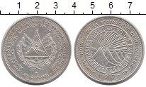 Изображение Монеты Сальвадор 25 колон 1977 Серебро UNC-