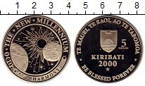 Изображение Монеты Кирибати 5 долларов 2000 Медно-никель Proof- Космос, Миллениум