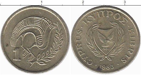 Картинка Монеты Кипр 1 цент Латунь 1983