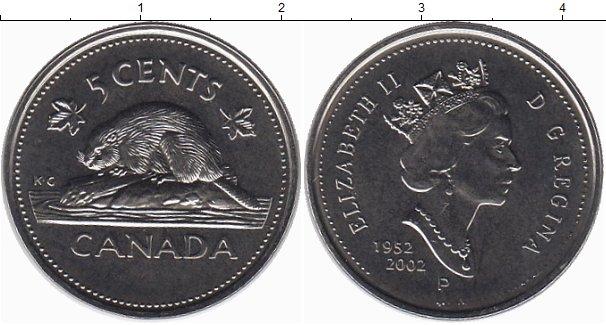 Картинка Монеты Канада 5 центов Медно-никель 2002