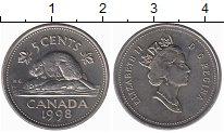 Изображение Монеты Канада 5 центов 1998 Медно-никель UNC-