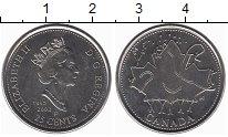 Изображение Монеты Канада 25 центов 2002 Медно-никель UNC- Елизавета II. Кленов