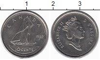 Изображение Монеты Канада 10 центов 1999 Медно-никель UNC-