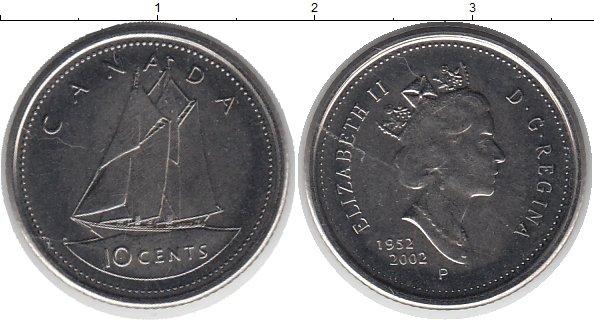 Картинка Монеты Канада 10 центов Медно-никель 2002