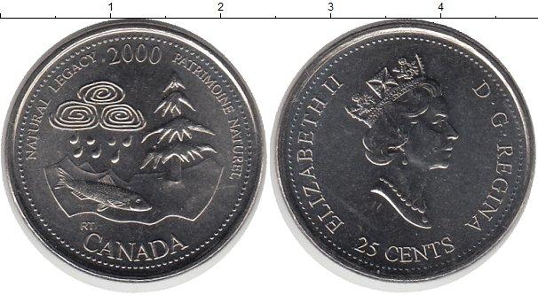 Картинка Монеты Канада 25 центов Медно-никель 2000