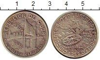 Изображение Монеты Куба 40 сентаво 1952 Серебро XF 50-летие Республики