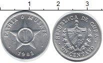 Изображение Монеты Куба 1 сентаво 1983 Алюминий UNC-