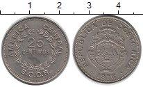 Изображение Монеты Коста-Рика 25 сентим 1976 Медно-никель UNC-