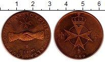 Изображение Монеты Мальтийский орден 10 грани 1969 Бронза UNC-