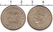 Изображение Монеты Малайя 20 центов 1943 Серебро UNC-