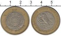 Изображение Монеты Мексика 10 песо 1986 Биметалл XF