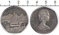 Изображение Монеты Остров Мэн 50 пенсов 1981 Медно-никель UNC-