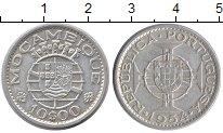 Изображение Монеты Мозамбик 10 эскудо 1954 Серебро XF Португальская колони