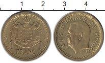 Изображение Монеты Монако 1 франк 1945 Латунь XF+