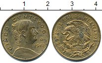 Изображение Монеты Мексика 5 сентаво 1968 Латунь XF Жозефа  Ортиц