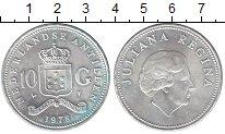 Изображение Монеты Антильские острова 10 гульденов 1978 Серебро UNC- Юлиана